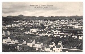 Early-1900s-Panorama-of-Ponta-Delgada-St-Michael-039-s-Azores-Postcard