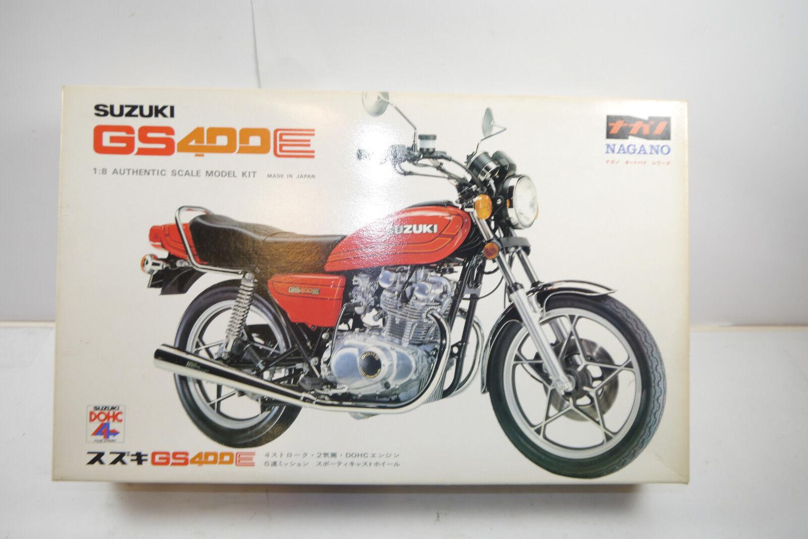 Nagano Suzuki Gs400e Motorbike Plastic Model Building Set 1 8 (Mf6)