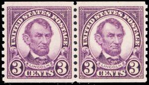 600-Mint-VF-XF-NH-3-Coil-Pair-Lincoln-Stamps-Cat-26-00-Stuart-Katz