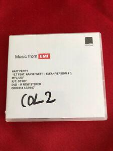 KATY PERRY E.T kanye west mtv usa vers 1 UK promo dvd acetate ABBEY ROAD studios