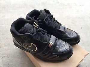 Nike Air Trainer 1 Mid Premium NRG Black Black Sz 9.5 NIB BB51 Gold