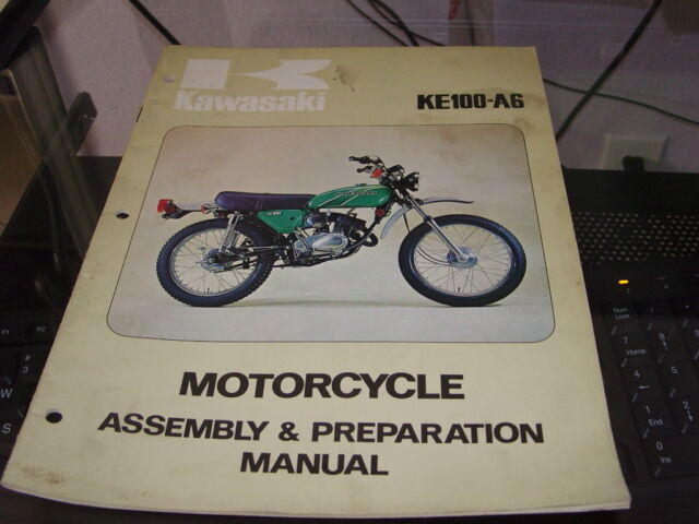 Kawasaki Assembly  U0026 Preparation Manual Ke100