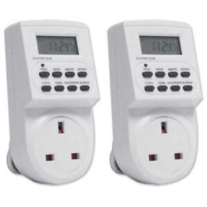2-x-Energy-Saving-7-Day-Electric-Plug-In-LCD-Digital-Timer-Socket-Switch-UK