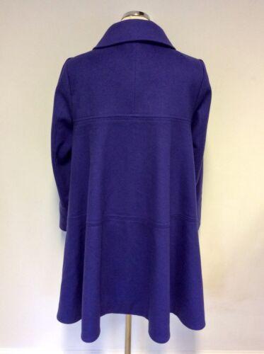 L Cappotto viola Reiss taglia lana cashmere in Swing e 8adq8