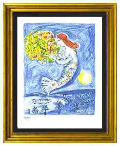 Marc-Chagall-Signed-amp-Hand-Numberd-Ltd-Ed-034-Bay-of-Angels-034-Litho-Print-unframed