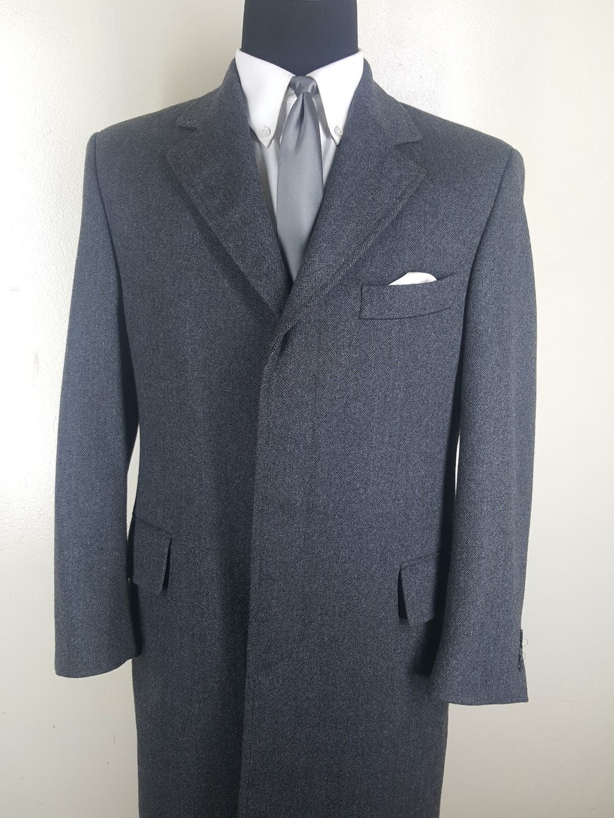 J.PRESS  Made In Canada 100% Wool 3 Button Topcoat     Fit  41 -43 Reg