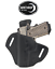 No Rail OWB Shield Holster LEFT Hand Black 1911 4 inch No Lasergrips