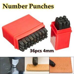 36pcs-Set-4mm-Neuf-Timbres-Lettres-Alphabet-Chiffres-Poincons-Bois-Cuir-Acier