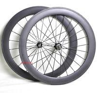 50mm Carbon Tubular Wheels Front Rear 700C Road Bike Racing Rims 3k Matt 11s hub