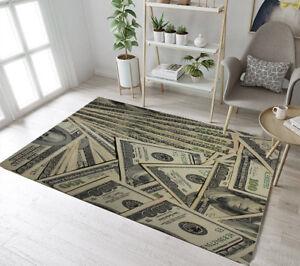 Floor Rug Mat Retro Money Us Dollar Bedroom Carpet Living