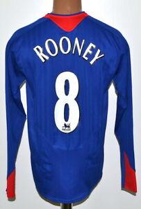 Manchester United 2005/2006 Away Football Shirt Nike Rooney #8 manica lunga