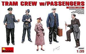 Miniart-38007-1-35-Tram-Crew-with-Passengerss-Plastic-Model-Figure-Kit
