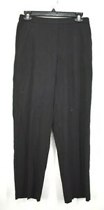 Briggs New York Womens Black Regular Fit Stretch Pull On Dress Pants Petite 8