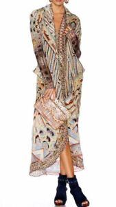 Jacket Franks Camilla Coat Byzantine Swarovski Silke Uld Long Realms 0pHpaxfw