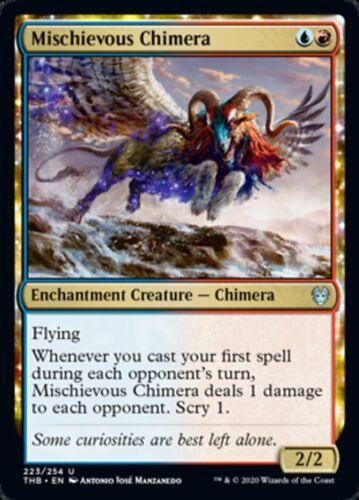 MTG x4 Mischievous Chimera Theros Beyond Death Uncommon NM//M