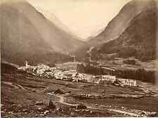 Suisse, Pontresina Engadin Graubünden  Vintage albumen print Tirage albuminé