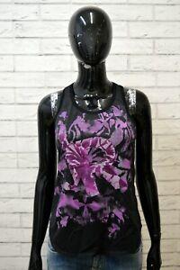 RICHMOND-Donna-Taglia-42-Canottiera-Nera-Blusa-Maglia-Camicia-Shirt-Women