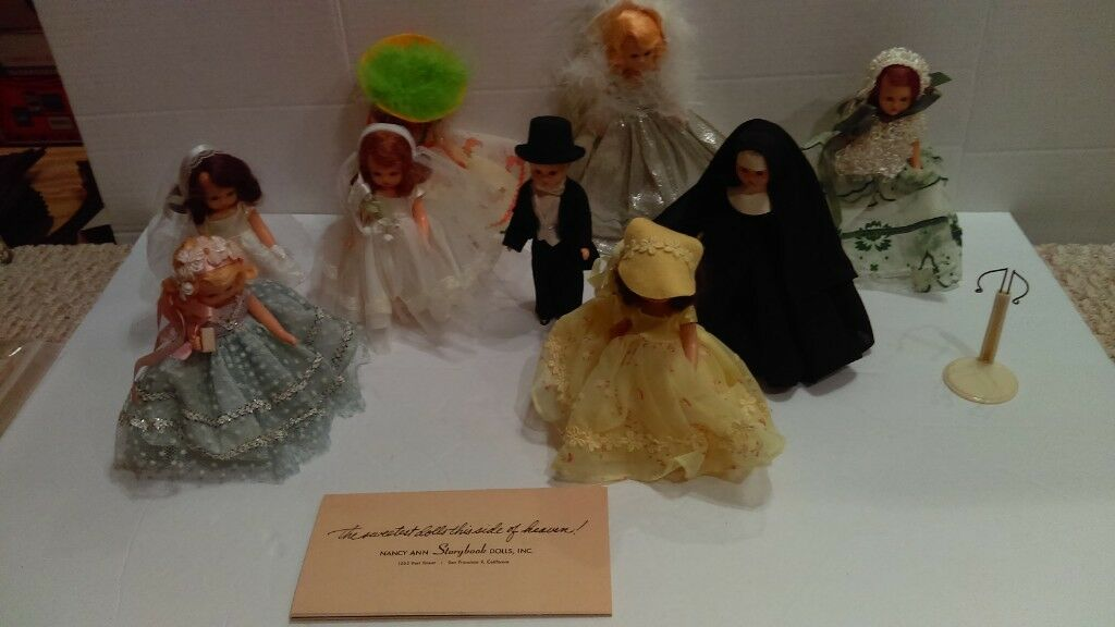9 Vintage 1950's Nancy Ann Storybook Dolls All Nice Clean Great Collection L@@K