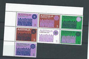 1971-7c-Xmas-corner-block-of-7-cream-paper-MUH-ML403