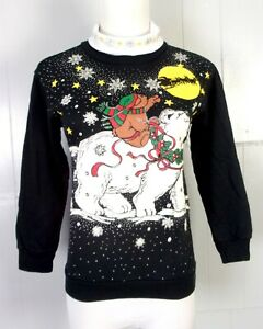 90s Christmas Sweaters.Details About Vtg 90s Ugly Christmas Sweater Party Puffy Paint Turtleneck Sweatshirt Juniors S