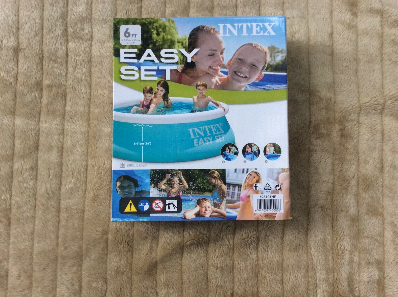Intex Kystal Clear Pool Cover 2.21 m. Brand New In Box