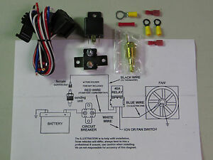 Universal Electric Cooling Fan Relay Switch Kit Sbc Bbc