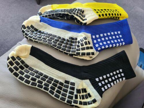 Size 8-12 Durable Anti Slip Football Soccer Socks Non Slip Grip Pads Sports
