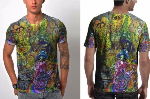 NEW DMT Drug Dark Psychedelic LSD Acid Hippie Mens Cool T-Shirt Tee RARE ITEMS