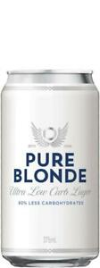 Pure Blonde Ultra Low Carb Lager Can 375mL 375mL Case of 24