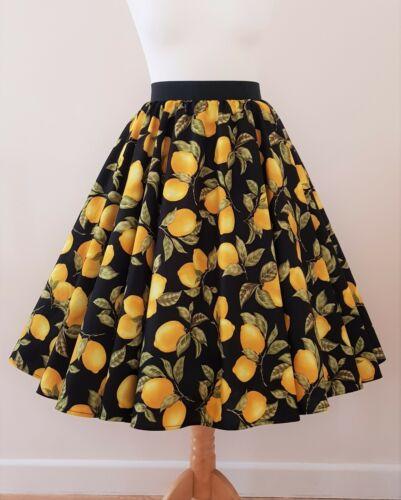 les toutes citrons cercle de 1950 d'été jupe rétro tailles Années fruits Rockabilly up pin robe wXItq