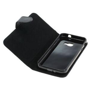 Book-Case-Etui-Handytasche-Tasche-Huelle-f-Samsung-Galaxy-Xcover-4-Schwarz