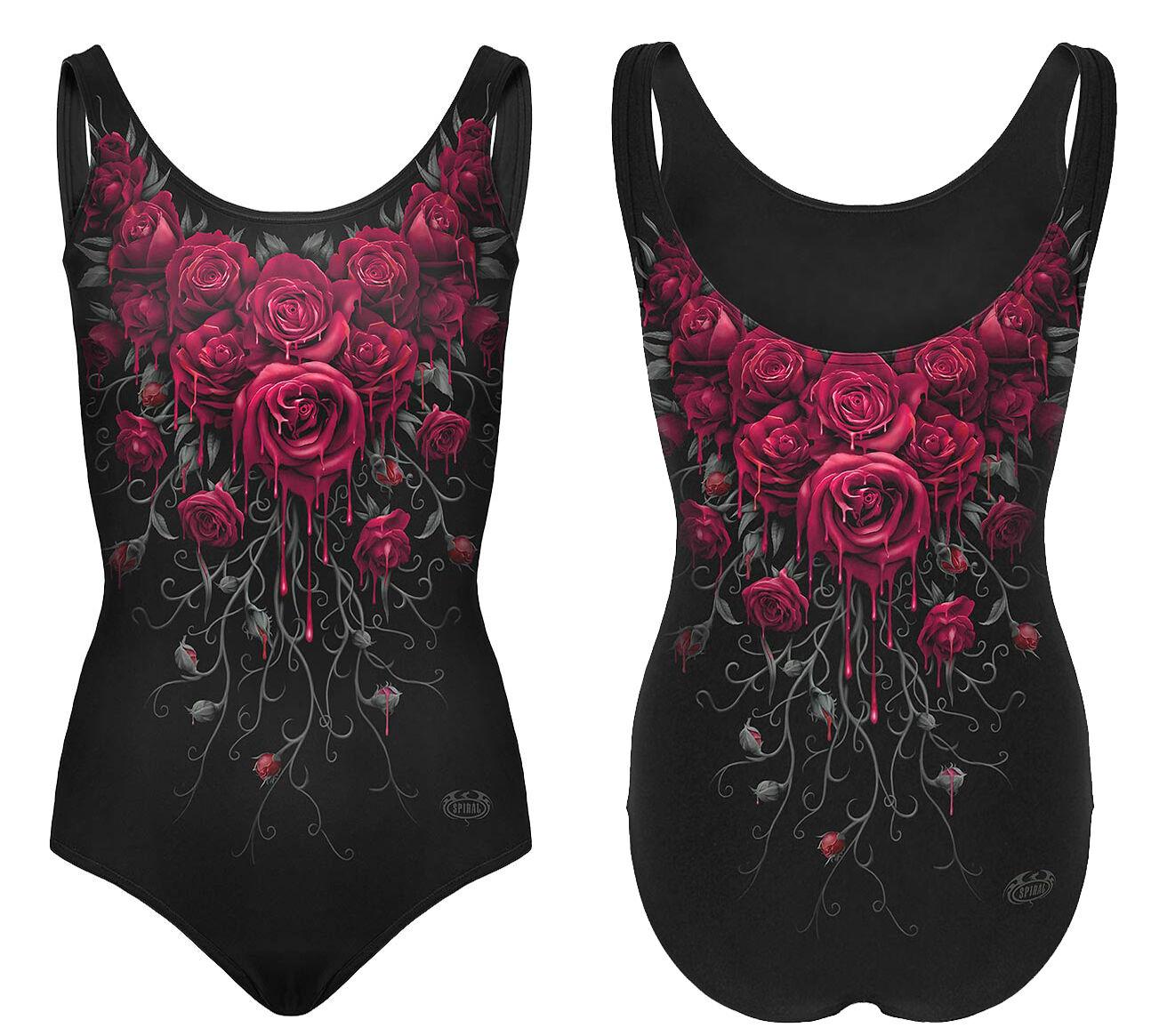 Spiral direct Noir swimsuit / / / Crâne / Roses / cat / TRIBAL / GOTH / Chaton Squelette / / DRAGON f27e7b