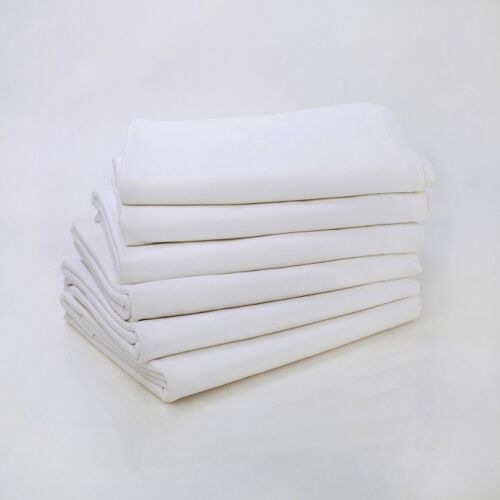 1/2 dz white queen size hotel fitted sheets t-180 percale hotel bedding 60x80x12