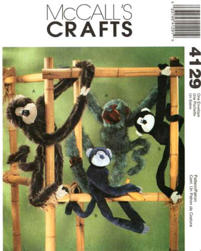 "McCall/'s 4129 24/"" and 36/"" Funky Monkeys Pattern Reduced!"