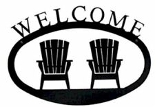 Adirondack chair silhouette Printable Item Wrought Iron Welcome Sign Adirondack Chairs Silhouette Small Outdoor Plaque Home wrought Iron Welcome Sign Adirondack Chairs Silhouette Small Ebay Wrought Iron Welcome Sign Adirondack Chairs Silhouette Small Outdoor