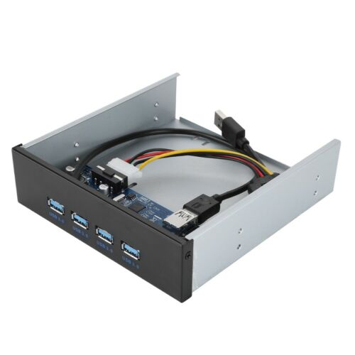 "5.25/"" 4 Ports USB 3.0 PCI Express PCI-E Front Panel Expansion Bay Card Adapter"
