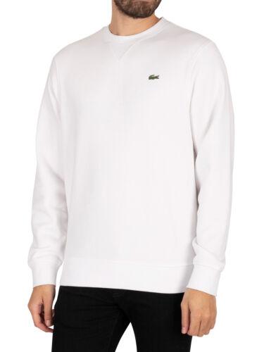 blanc Lacoste Homme sport mélange de coton Polaire Sweat-shirt
