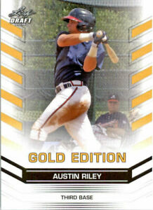 034-Rare-034-Austin-Riley-2015-Feuille-Draft-034-or-Edition-034-Carte-Rookie