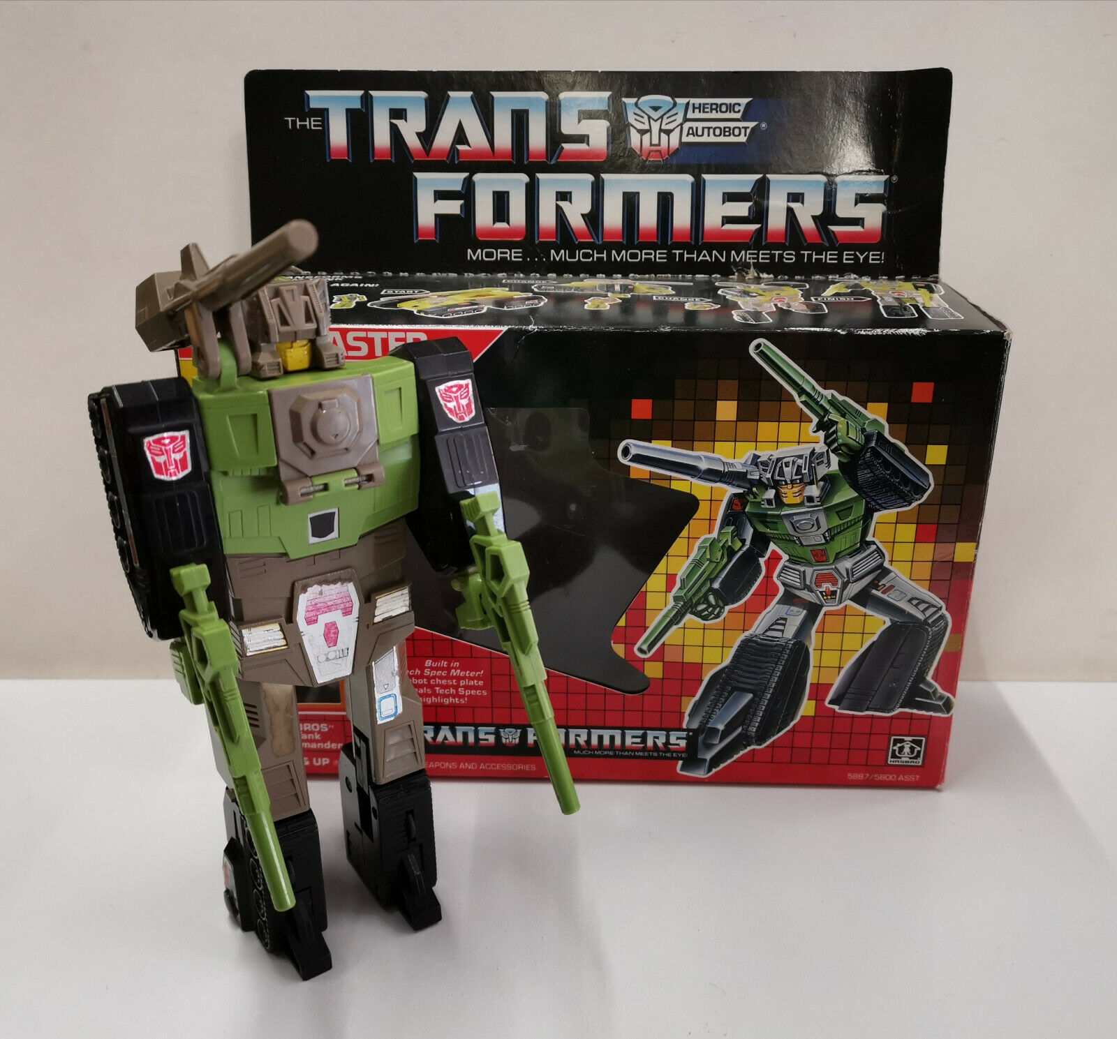 Transformers G1 Hardhead Complete with Box boxed Headmasters