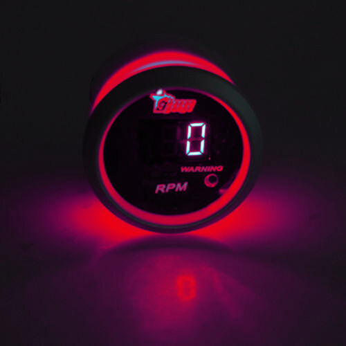 Drehzahlmesser Turbodruck Wasser Öltemperatur Voltmeter Zusatz Instrument Rot