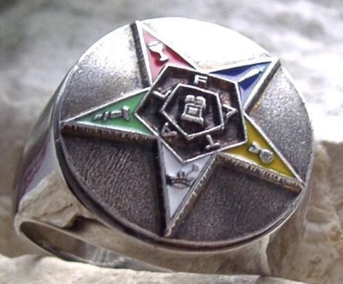 MASONIC MASON RING EASTERN STAR DEGREE STEEL SILVER PIN PATCH MEDAL NECKLACE D84