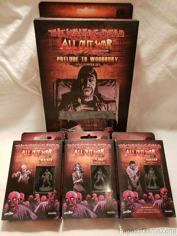 The promänading Dead All Out War Miniatures spel Solo Stkonster Set with spel Boosters