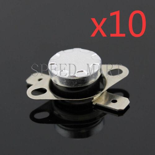 10 pcs Interrupteur à Température Contrôle Capteur Thermique thermostat 110 ° C N.C KSD301