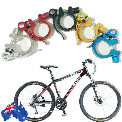 Road MTB Saddle Seat Post Clamp Mountain Bike Bicycle Lock Quick Release 31.8 mm