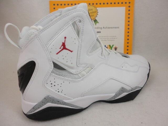 Nike jordan vero volo, bianco / rosso / nero / lupo grigio in palestra, 342964 104, sz 13