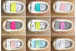 BABEES-4-tlg-MINKY-SET-Baby-DECKE-75x60-KISSEN-Kinderwagen-Wiege-Bettwaesche