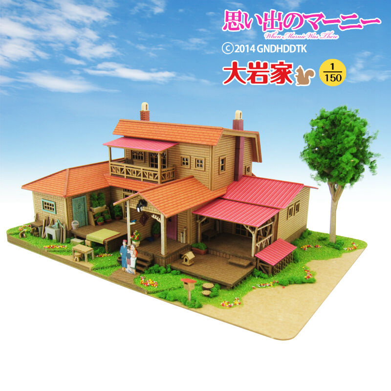 Sankei Mk07-18 Studio Ghibli Oiwa Casa cuando Marnnie Era Solos 1 150 Escala