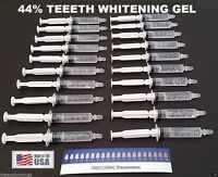 20 Syringes Teeth Whitening 44% Whitening Gel Dental Grade 5 ML Syringes