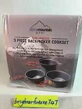 Alpine Mountain Gear AMGCKSET/S Backpacker Hard Anodized Cookset-3 Pc