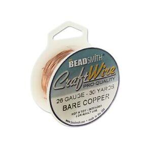 Beadsmith Wire 26ga Wire Jewelry Supplies Round Jewelry Wire 30yd Spool Copper Craft Wire Bare Copper Wire Beadsmith 26 gauge 43842